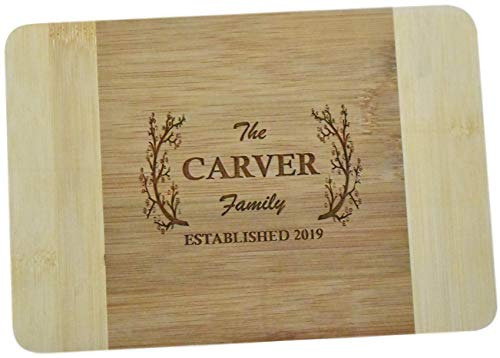 Brew City Engraving - Custom Personalized Engraved Bamboo Cutting Board - Wedding Anniversary Graduation Housewarming Closing Realtor Mothers Day Fathers Day GiftPresent for Cooks Chefs 3