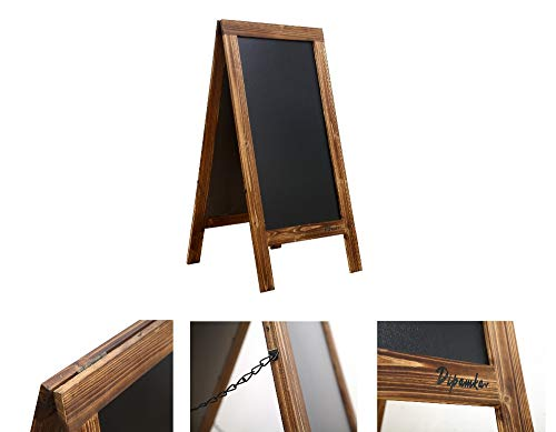 Dipamkar Grande Vintage De Madera A-Frame Tiza sándwich Board//pavimento..