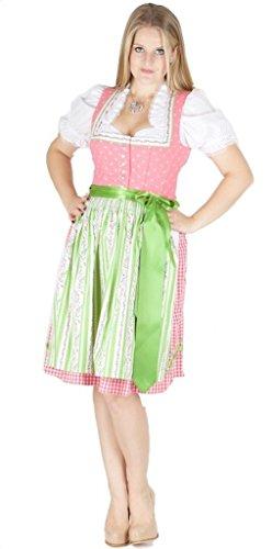 Country-Line 12151 Dirndl 60er pink grasgrün Size 38