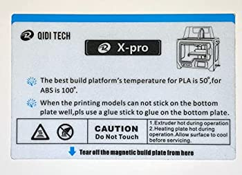 QIDI TECH X-Pro Build Plate Sticker 3D Printer X-Pro Hot Bed Platform Sticker Spring Steel Magnetic Plate  230X150mm  1pc