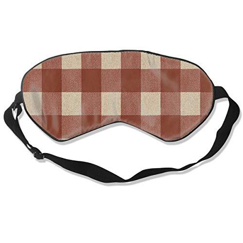 Oogmasker Rood Bruin Plaid Slapen Masker Verstelbaar Ademend Slaap Masker Slapende Slaap Ogen Masker Oogschaduw Blindfold