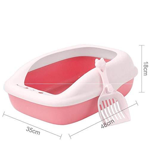 Yanxinejoy wastafel voor katten, klein, eenvoudig, lang haar, goed gebruik, hoekdeodorant, kat, duurzaam, Netto