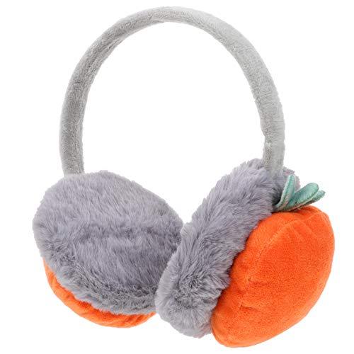 SOIMISS Kinder Winter Ohrenschützer Fleece Ohrwärmer Weichen Plüsch Ohrhüllen Winter Ohrenschützer Niedlichen Ohrenschützer für Kinder Baby Weihnachten Geburtstagsfeier Geschenke (Orange)