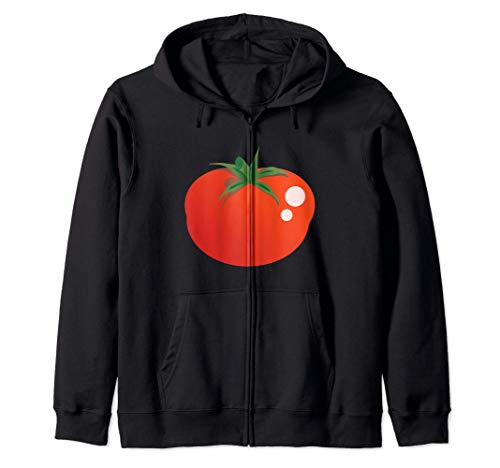 Disfraz de emoji de dibujos animados de tomate Sudadera con Capucha