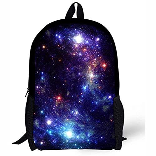 Galaxy - Mochila escolar para niños y niñas, mochila para libros de niños, mochila para adolescentes, estudiantes, ligera, color morado