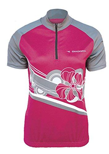Diadora Dana - Camiseta de Ciclismo para Mujer, Color Rosa - Rosa - S