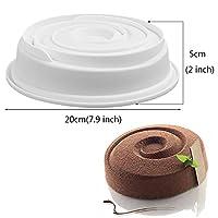 1/3個スパイラル型シリコンケーキ型デザートムースベーキングフォームパンチョコレート型ケーキデコレーションツール