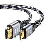 Cable Mini HDMI a HDMI 1.8M -Snowkids Cable Mini HDMI Aluminio 4K@60Hz 2K@120Hz Trenzado de Nailon Plug-Play Admite:Full-HD,3D,Ultra-HD,Ethernet, Cámara de alta velocidad,HDTV,Monitor,Proyector