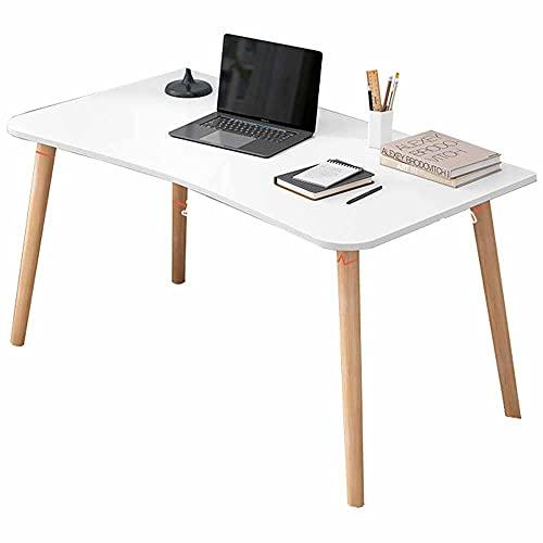 LJFYXZ Mesa Escritorio Escritorio de computadora para Trabajar Desde casa Estilo Moderno y Sencillo Escritorio para PC Puesto de Trabajo Fácil Montaje 80x50CM(Color:Blanco)