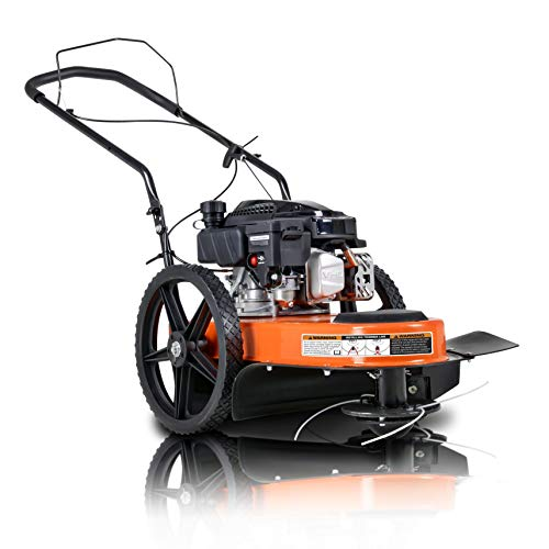 """SuperHandy String Trimmer Walk Behind 21"""" Inch Line Cutting Diameter for Landscaping, Lawn, Garden, Fields, Farmland, Mowing, Brush Clearing Helps with Fire Prevention/Building Firebreaks"""