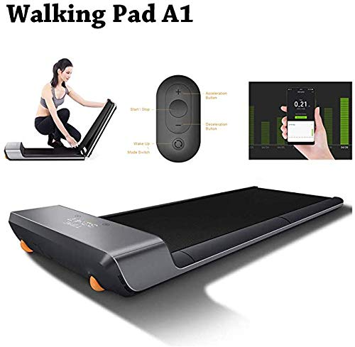Brownrolly Walking Pad A1 Treadmill Smart Foldable Walking Machine with Remote Control, Noise-free and Comfortable Training Equipment, Two Modes of Operation