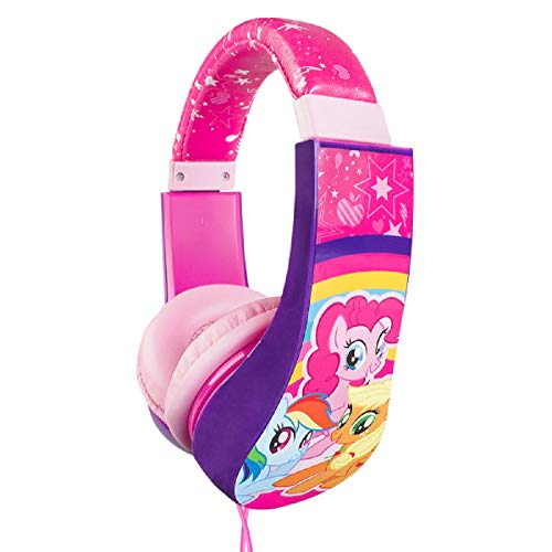 My Little Pony Kids Safe Over The Ear Headphones 30357-TRU| Kids Headphones, Volume Limiter for Developing Ears, 3.5MM Stereo Jack, Recommended for Ages 3-9, by Sakar (Styles and Graphics May Vary)