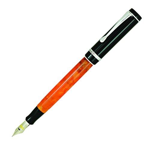 Conklin Duragraph - Pluma estilográfica (noches naranjas), pluma estilográfica extra fina, noches naranjas (CK71370:CK71377)