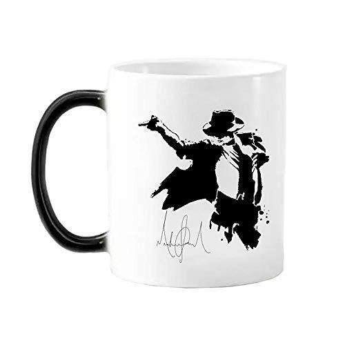 hjbjb 1 Neue 350Ml Magier Michael Jackson Farbwechselbecher, Kaffeetasse, Keramikmilchbecher, Freunde Und Fans Für Kinder Farbwechsel Mug_Foam Box Verpackung