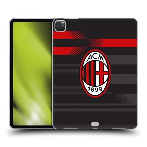 Official AC Milan Third 2017/18 Crest Kit Soft Gel Case Compatible for Apple iPad Pro 12.9 (2020)