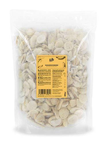 KoRo - Gefriergetrocknete Bananen 500 g - Pflanzliche schonend getrocknete Bananenscheiben herrlich knusprig aus 100 % Bananen
