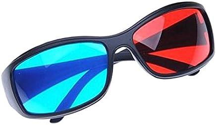 810ac59af8 Sonline Rojo-Azul / Gafas 3D Estilo de Cian Anaglifo para 3D Pelicula TV