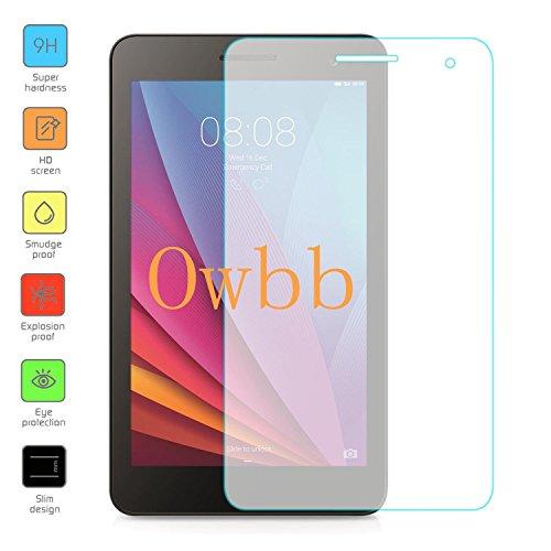 Owbb Glas Display Schutzfolie für Huawei MediaPad T1 7.0 Tablet-PC WiFi Panzerglas Protector Hartglas Schutzfolie