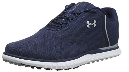 mejores Zapatos de golf para mujer Under Armour Fade SL Sunbrella, Zapatos de Golf para Mujer, Azul (Academy/Metallic Silver/Metallic Silver (400) 400), 39 EU