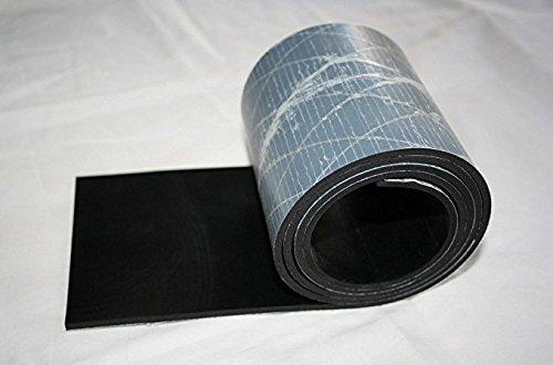 1000mm x 40mm x 3mm Gummiauflage, einseitig selbstklebend, Gummistreifen Gummiplatte Gummimatte