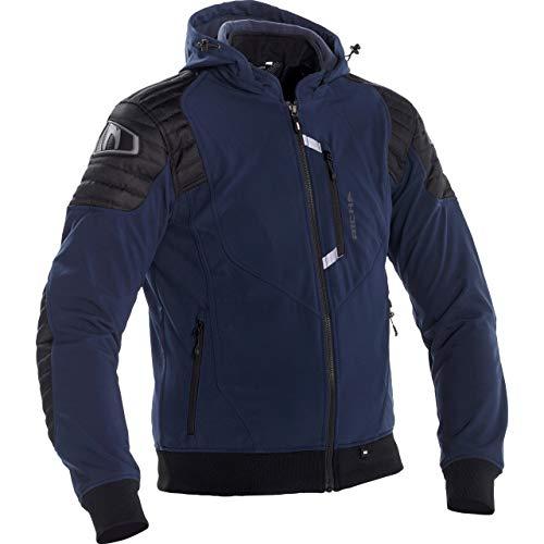Richa Motorradjacke mit Protektoren Motorrad Jacke Atomic WP Textiljacke Navy L, Herren, Chopper/Cruiser, Ganzjährig, blau