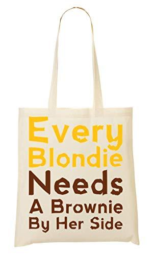 Wicked Design Every Blondie Needs A Brownie By Her Side Bolso De Mano Bolsa De La Compra