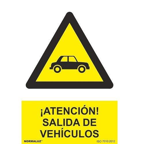 CABLEPELADO Señal Atencion Salida De Vehiculos PVC 21x30 Amarillo