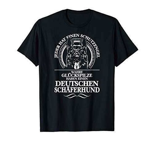Deutscher Schäferhund Schutzengel Hund Hunde Hundespruch T-Shirt
