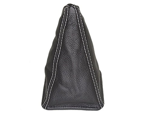 The Tuning-Shop Ltd for Toyota JZX Chaser 1996-2001 Shift Boot Black Leather White Stitching
