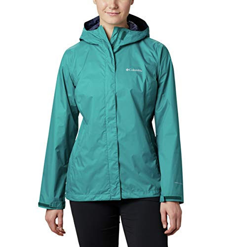 Columbia Women's Arcadia II Hooded Jacket, Waterproof and Breathable Outerwear, -Waterfall, Small