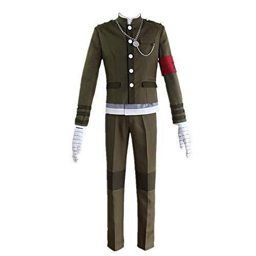 CHANGL 8PCS / Set Cosplay Kostüm Halloween Karneval Danganronpa V3 Korekiyo Shinguji Tägliche High School Uniform Anzüge Optionale Perücke Hohe Qualität
