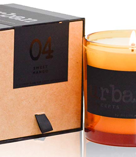 Urban Concepts by DECOCANDLES | Bliss- Sweet Mango - Highly Scented Candle - Long Lasting - Hand Poured in The USA - Hotel Inspired Collection - 9 Oz. w/Box