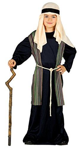 Guirca- Disfraz infantil de San José pastor, Color negro, 5-6 años (42492.0)