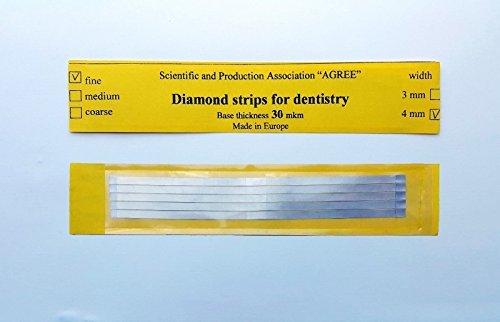 Dental Abrasive STAINLESS STEEL Strips finishing polishing 4mm Fine 5pcs