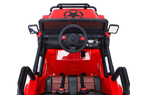 RC Auto kaufen Kinderauto Bild 3: Actionbikes Motors Kinder Elektroauto Wrangler Offroad Jeep ALLRAD 2-Sitzer 4 x 35Watt 2x10AH Batterie Eva Reifen 4x4 (Rot)*