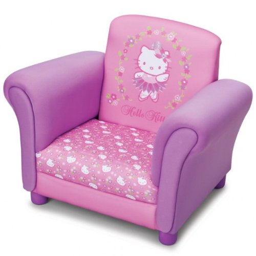 Delta Children\'s Products Hello Kitty Pinker Sessel für Kinderzimmer Kindersessel Kinder Fernsehsessel