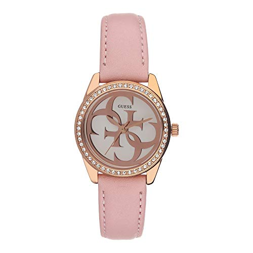 Guess Micro g Twist Damen Uhr analog Quarzwerk mit Leder Armband W1212L1