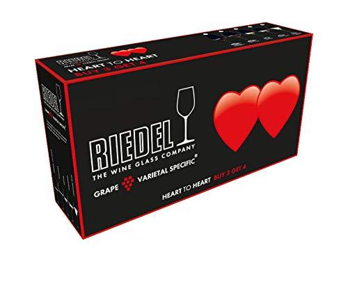 Riedel Riesling - Copas de vino blanco con forma de corazón a corazón, 3 unidades y 4