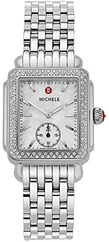 Michele Deco Mid Diamond Mother of Pearl Dial Women's Watch MWW06V000001