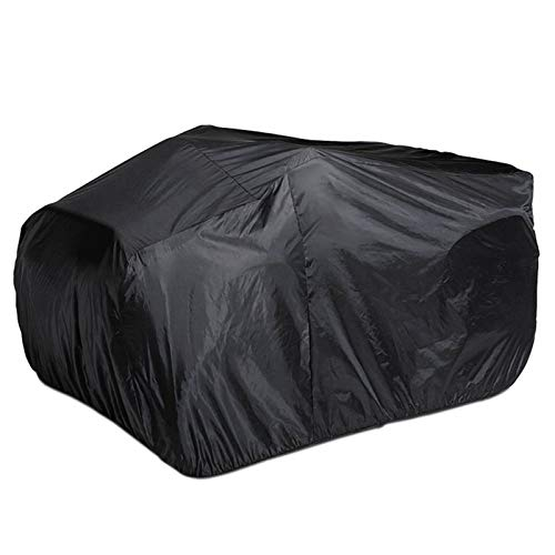 YINETTECH ATV Go Kart Abdeckung Zubehör mit Aufbewahrungstasche Universal Wasserdicht Staubdicht Outdoor Tragbar für 250-1000CC Schwarz