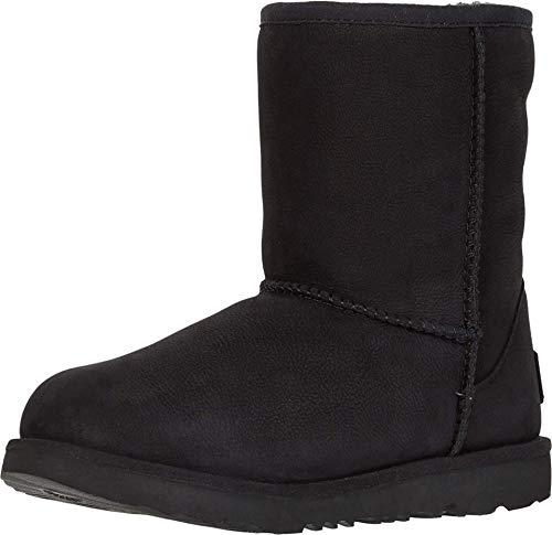 UGG Kid's Female Classic Weather Short Classic Boot, Black, 3 (UK)