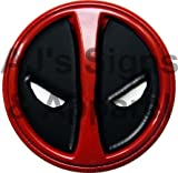 Marvel Extreme Classic Deadpool Head Shot 5 inch Vinyl car Laptop or Window Sticker Decal 2