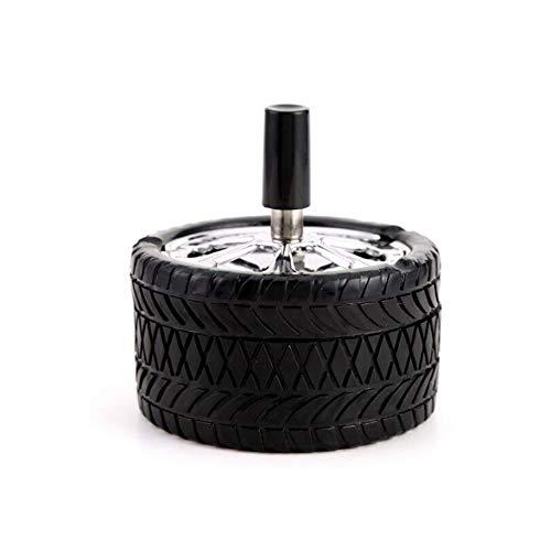 DAGONGREN Tipo de neumático Rotación a Prueba de Viento Prensa de cenicero...