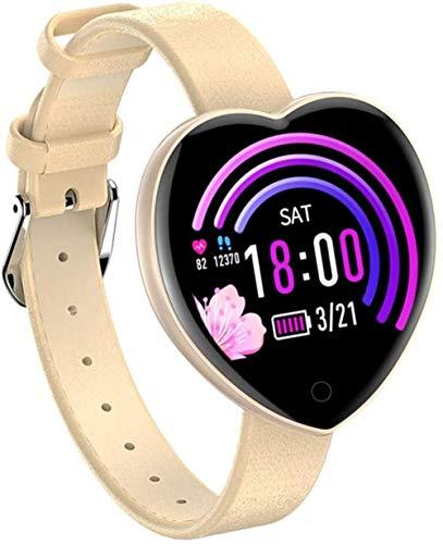 Reloj inteligente para mujer, presión arterial, oxígeno en sangre, recordatorio de llamada, resistente al agua, para iOS y Android.