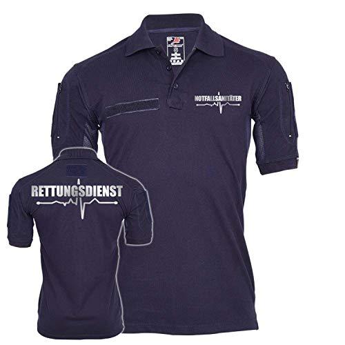 Copytec Tactical Polo Notfallsanitäter Rettungsdienst Reflektierend Einsatz Beruf #25519, Größe:L, Farbe:Dunkelblau
