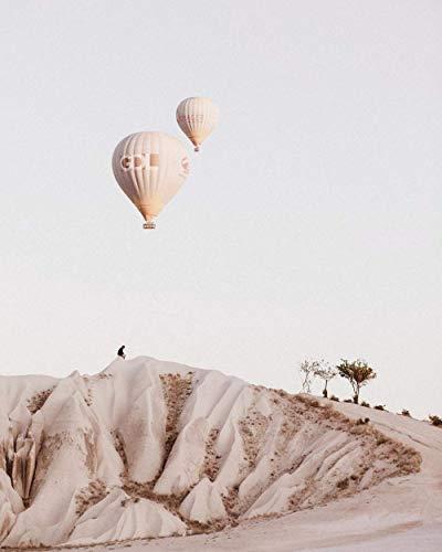 DFKDGL Vuelo en Globo aerostático de montaña, Rompecabezas de Madera para Adultos Juguetes educativos en 3D Decoración del hogar de bricolaje-1000 Piezas; 75x50 cm para ADU