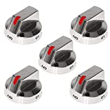 [Upgraded] Dg64-00473A Burner Dial Knob with Reinforced Power Ring Protection Compatible with Samsung Range Oven Gas Stove Knob NX58F5700WS NX58H5600SS NX58H5650WS NX58J7750SS (5 Pack)
