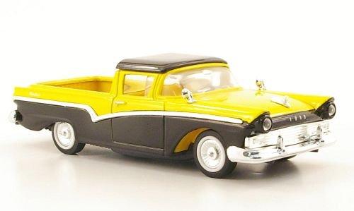 Ford Ranchero, schwarz/gelb, 1957, Modellauto, Fertigmodell, Yat Ming 1:43