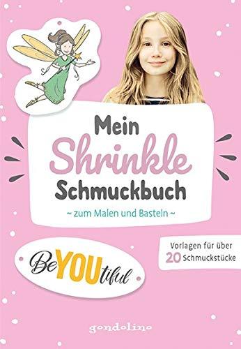 Mein Shrinkle Schmuckbuch zum Malen und Basteln ab 5 Jahre (rosa) - DIY: Lieblingsanhänger mit Schrumpffolie selbst anfertigen!