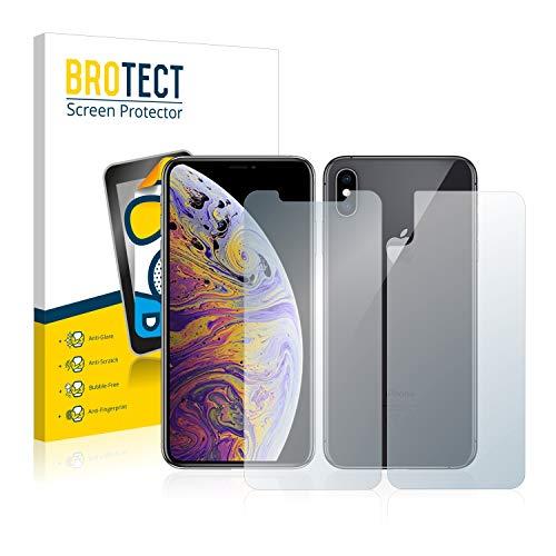 brotect Pellicola Protettiva Opaca Compatibile con Apple iPhone XS Max (Anteriore + Posteriore) Pellicola Protettiva Anti-Riflesso (2 Pezzi)